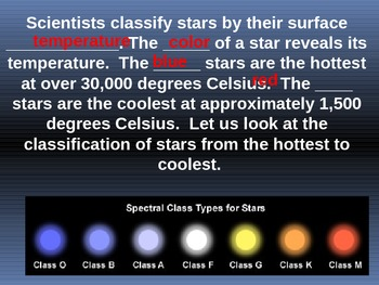 The Classification of Stars Powerpoint