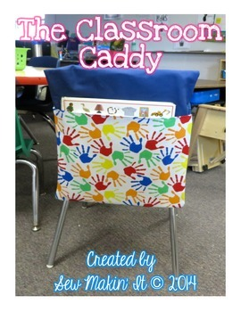 The Classroom Caddy- Handprint Fabric