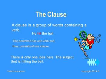 The Clause - the grammar series