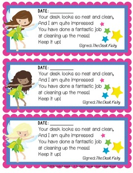 Clean Desk Fairy Awards for Boys and Girls