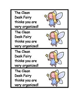 The Clean Desk Fairy award
