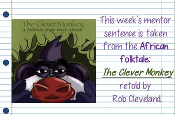 Clever Monkey(African Folktale) Interactive Mentor Sentence Teaching PowerPoint