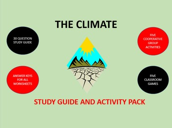The Climate:  Study Guide and Activity Pack