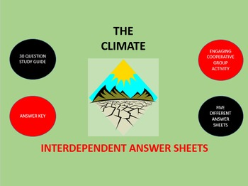 The Climate:  Interdependent Answer Sheets Activity