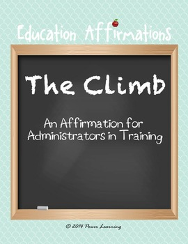 An Affirmation for Administrators in Training  (Profession