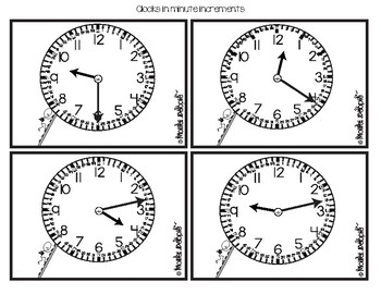 The Clock:  Practice Cards for Hour, Half Hour, 5-Minute and Minute