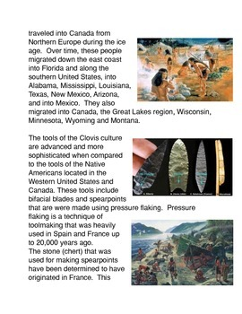 The Clovis Culture Common Core Activity