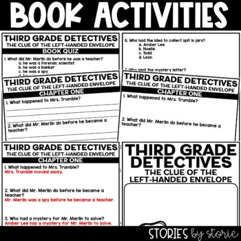 Third Grade Detectives: The Clue of the Left-Handed Envelope Book Questions