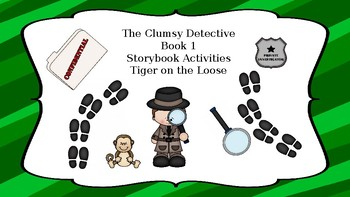 The Clumsy Detective Storybook Activity Packet