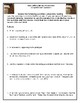 The Coffin Quilt  CCSS Comprehension Questions for Prologue and Chpt. 1