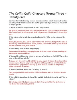 The Coffin Quilt Ch. 23-25 Questions (Answer Key Included)