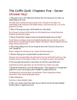 the coffin quilt chapter 5 7 questions answer key included tpt rh teacherspayteachers com Coffin Pattern Yeller Thing