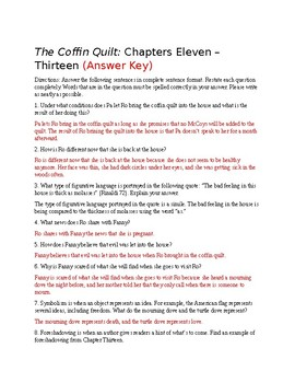 The Coffin Quilt Chapters 11-13 Questions (Answer Key Included)