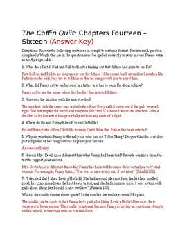 The Coffin Quilt Chapters 14-16 Questions (Answer Key Included)