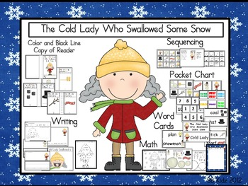 The Cold Old Lady Who Swallowed Some Snow / Winter / Sequencing