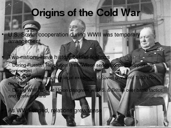 The Cold War:  1945-1960