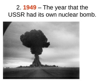 The Cold War - Arms Race Quiz