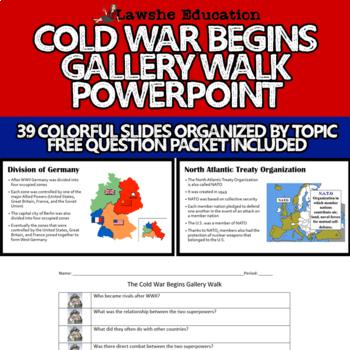 The Cold War Begins Gallery Walk PowerPoint