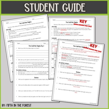 The Cold War Begins PowerPoint PLUS Student Guide
