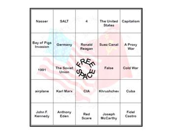 The Cold War- Bingo