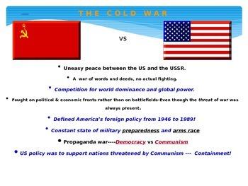 The Cold War - Common Core Ready - SC 7.5