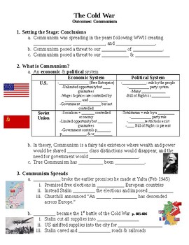 The Cold War Communism Guided PowerPoint Lecture Notes