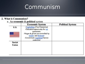 The Cold War Communism PowerPoint Lecture