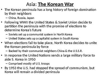 The Cold War: Conflict in Asia and the Americas
