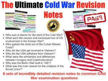 The Cold War: Detailed Exam Revision Pack - 8 topics, 12 pages