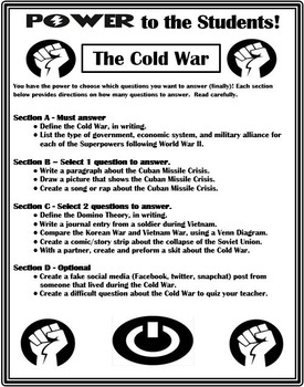 The Cold War Differentiation Activity - Power to the Students!