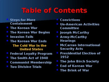 Global Policy & International Conflicts - The Cold War Era