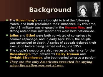 Cold War Era - Julius & Ethel Rosenberg - Cold War Spies
