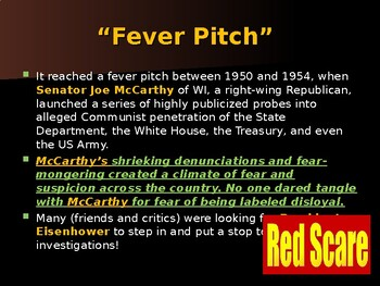 Cold War Era - Senator Joseph McCarthy's Witch Hunt