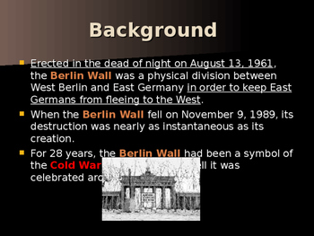 Global Policy & International Conflicts - The Berlin Wall