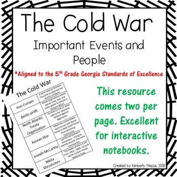 The Cold War Important People and Events