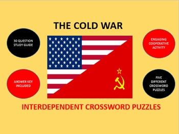 The Cold War: Interdependent Crossword Puzzles Activity