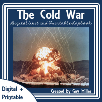 Cold War Digital Unit + Printable Lapbook l Distance Learning
