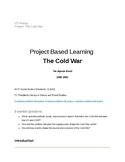 The Cold War- US History Project Based Learning (HS) Googl