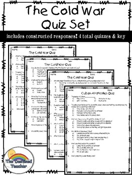 The Cold War Quizzes - 4 total!