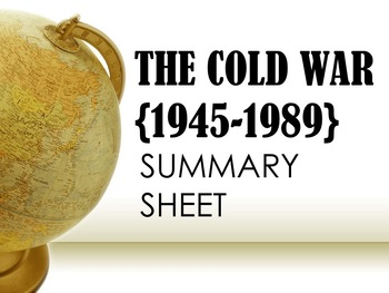 The Cold War Summary Sheets