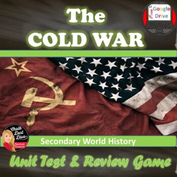 The Cold War TESTS & Review Games  - Common Core Aligned! Editable