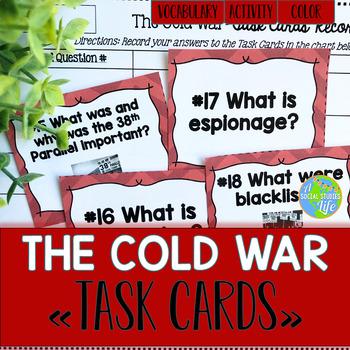 Cold War TASK CARDS