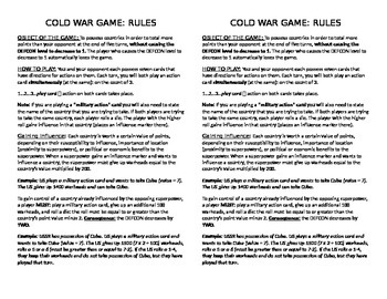 The Cold War: The Board Game