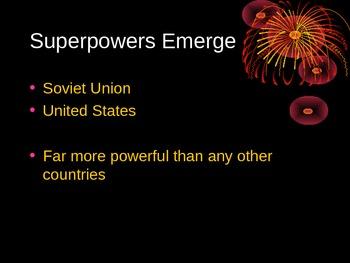 The Cold War: U.S. Vs Soviet Union PPt.
