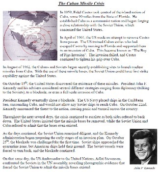 The Cold War Unit 10: the Cuban Missile Crisis