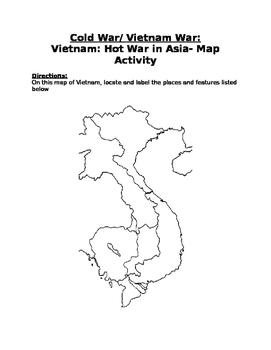 The Cold War/ Vietnam War: Vietnam Map Activity