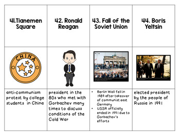 The Cold War Vocabulary Cards