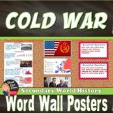 Cold War WORD WALL Posters | World History | Grades 8-12 | Classroom Decor
