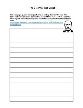The Cold War-Webquest