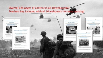 The Cold War Webquest and Video Analysis Bundle